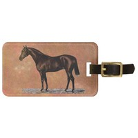 Brown Horse Luggage Tag