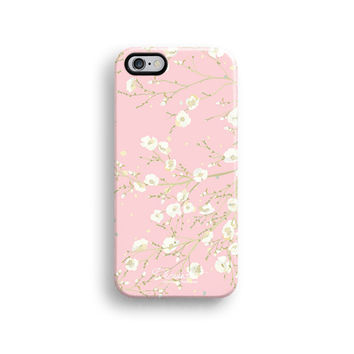 Pink floral iPhone 6 case, iPhone 6 plus case S613