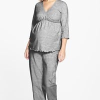 Women's Japanese Weekend Maternity/Nursing Pajamas