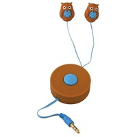Retractable Owl - Earbuds Headphones