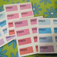 16 Step Stickers, perfect for your Erin Condren, Plum Paper, Filo Fax, Calendar and more!