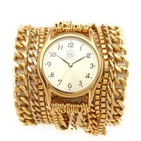 Sara Designs Gold Wrap Watch - Watches - Accessories