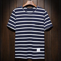 Short Sleeve Stripes Summer T-shirts [9957982595]