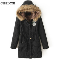 Winter Women Jackets And Coats 2017 Parkas For Woman 13 Colors Wadded Jackets Warm Outwear With A Hood Large Femme Thick S237