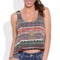 Tribal Swing Tank Top with Braided Strap Back