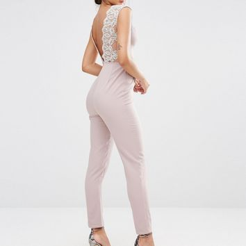 Missguided Lace Back Detail Jumpsuit