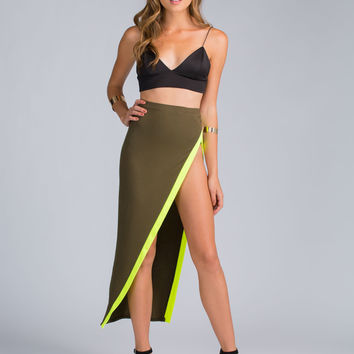 Part Ways Cut-Out Slit Skirt