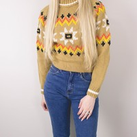Vintage Nordic Knit Ski Sweater