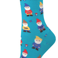 Women's Novelty Crew Socks From Socksmith Designs - Nice To Gnome You