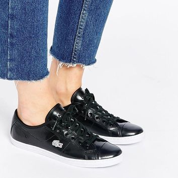 Lacoste | Lacoste Leather Ziane Black Sneaker PRC Trainers at ASOS