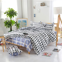 Black and White Print Super Soft Bed Set