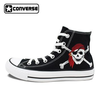 Unisex Canvas Shoes Hand Painted Skull