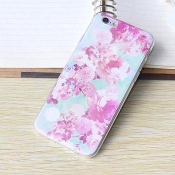 Flower Case Ultrathin Cover for iPhone 6 6s Plus-170928