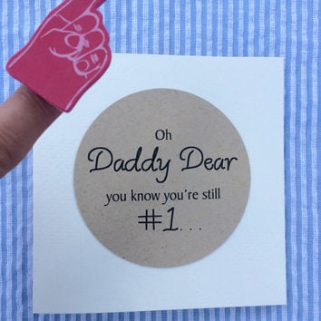 Father's Day Card with mini foam finger