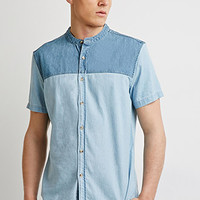 Colorblocked Chambray Shirt