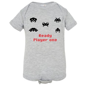 Space Invaders Inspired Baby Onesuit - Infant Romper - NB 6m 12m 18m 24m