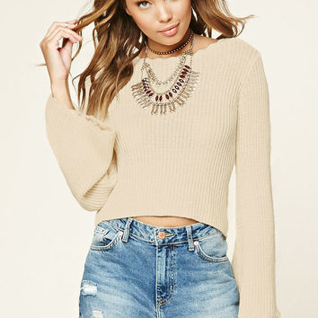 Bell-Sleeve Sweater