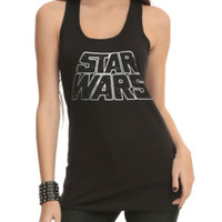 Star Wars Foil Logo Girls Tank Top