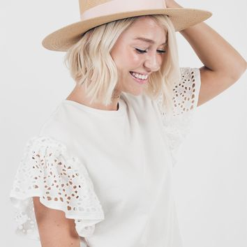 A New Story Top in Ivory