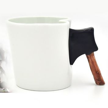 Creative Funny Ceramic Morning Mug Ax Style Prank Ceramic Mugs for Tea Milk Beverage Good for Unique Gift  SH199