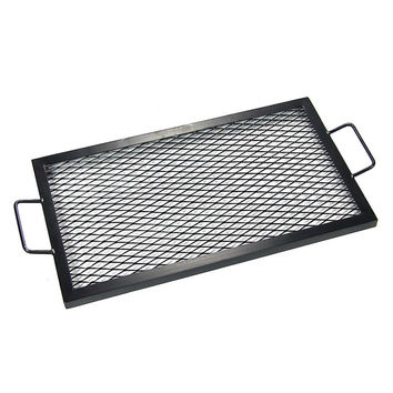 Sunnydaze X-Marks Rectangle Fire Pit Cooking Grill 40 Inch