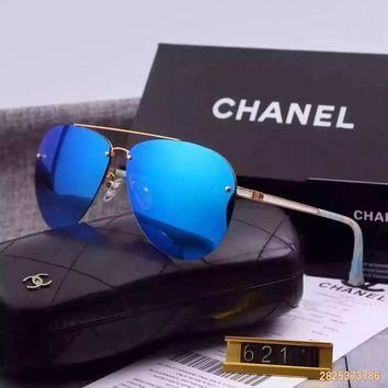 Original Chanel Pilot Fall Sunglasses Frameless 621110 - 06