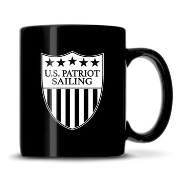 Premium US Patriot Sailing Coffee Mug, 15.3oz Deep Etched Coffee Cup, Made in USA