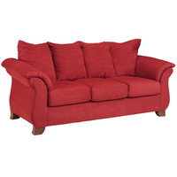 Exceptional Designs Sensations Red Brick Microfiber Sofa