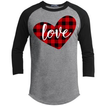 Buffalo Plaid Love Heart T200 Sport-Tek Sporty T-Shirt
