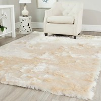 Safavieh Handmade Silken Glam Paris Shag Ivory Polyester Area Rug (4' x 6') | Overstock.com Shopping - The Best Deals on 3x5 - 4x6 Rugs