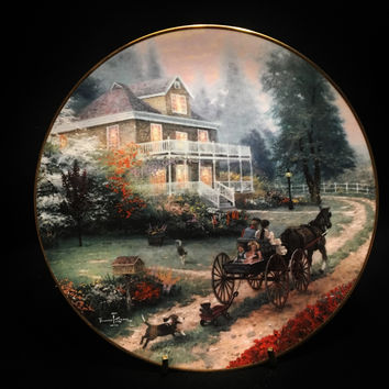 Knowles A Carriage Ride Home by Thomas Kinkade 3rd Issue 1992