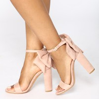 Fall Back Heeled Sandal - Pink