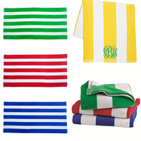 Personalized Stripe Beach Towels