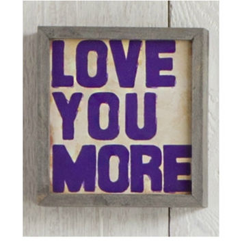 Natural Life Love You More Street Market Sign