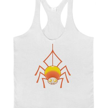 Cute Candy Corn Spider - Halloween Mens String Tank Top