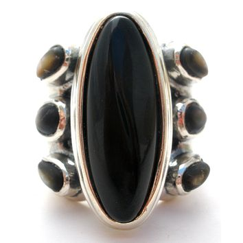 Black Onyx Sterling Silver Ring Carolyn Pollack Relios