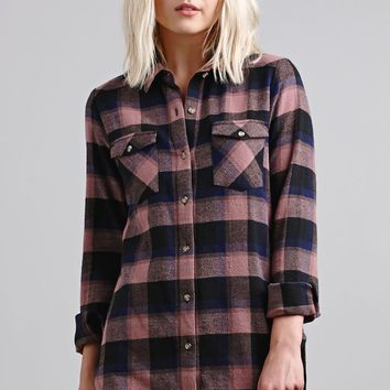 RVCA Wanted Woven Flannel Button-Down Shirt - Womens Shirts