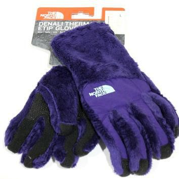 The North Face Women's Denali Thermal Etip Garnet Purple Gloves for just $31.99