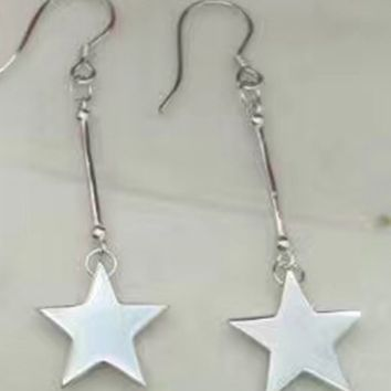 925 sterling silver star pendant earrings E4900-0414 -Gifts box