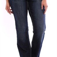 Plus Size Z Co Slim Bootcut Jean with Leather and Stud Back Pockets