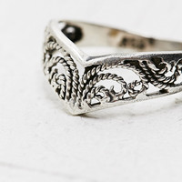 Engraved Midi Ring in Sterling Silver - Urban Outfitters