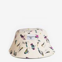 Flight of Birds Bucket Hat in Natural