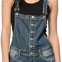 Almost Famous Button Front Overall Shorts