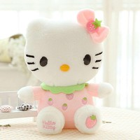 20CM High quality hello kitty plush toys hug pillow fruit KT cat stuffed dolls for girls kids toys gift mini animal plush doll