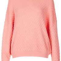 Knitted Quilted Jumper Jumper - Knitwear  - Clothing