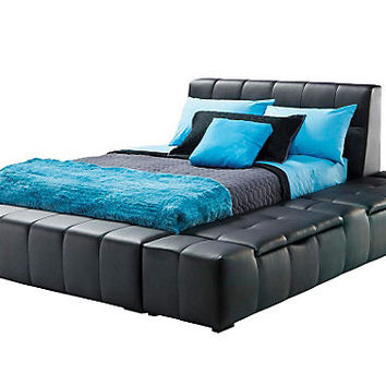 Zoey Black Full Storage Bed