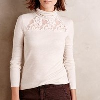Lace-Topped Turtleneck by Anthropologie