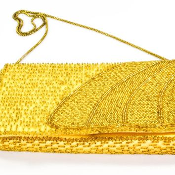 Vintage Purse - Marshall Fields - Gold Purse - Circa 1950 - Gift for her - Gift for Mom - Unique Gift - valentines day gift - Evening Purse