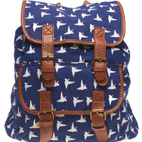 Bird Print Backpack | Wet Seal