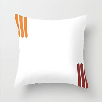 "Multicolor Spears Throw Pillow Indoor & Outdoor Cover (16"" X 16"", 18"" X 18"", 20"" X 20""),White,Orange,Red,Classy,Pattern,Designer,Minimalist"